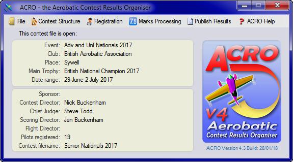 BAeA scoring software ACRO